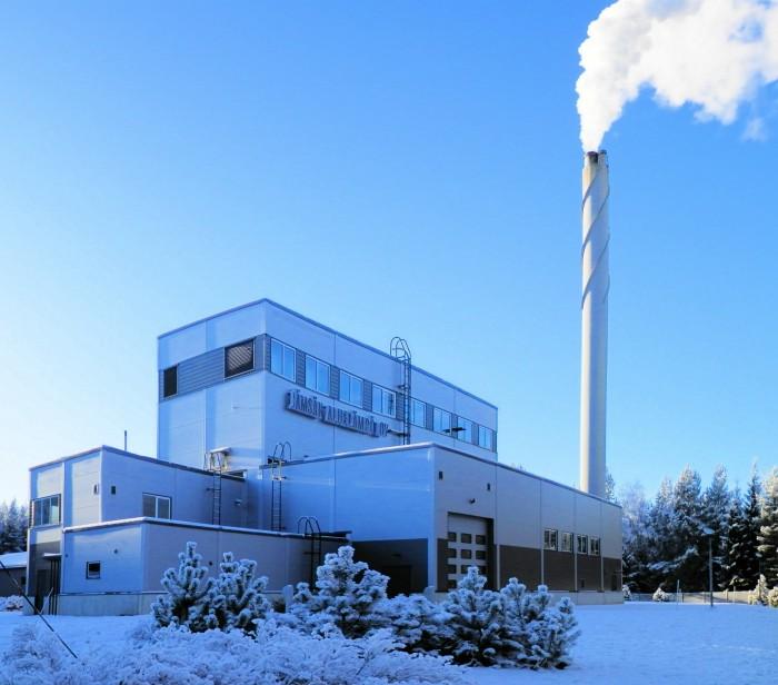 Hallin lämpökeskus käyttää pääosin kotimaista polttoainetta.